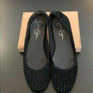 Suede Ballet Flats